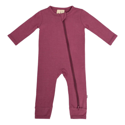 Zippered Romper in Plum - Kyte Baby