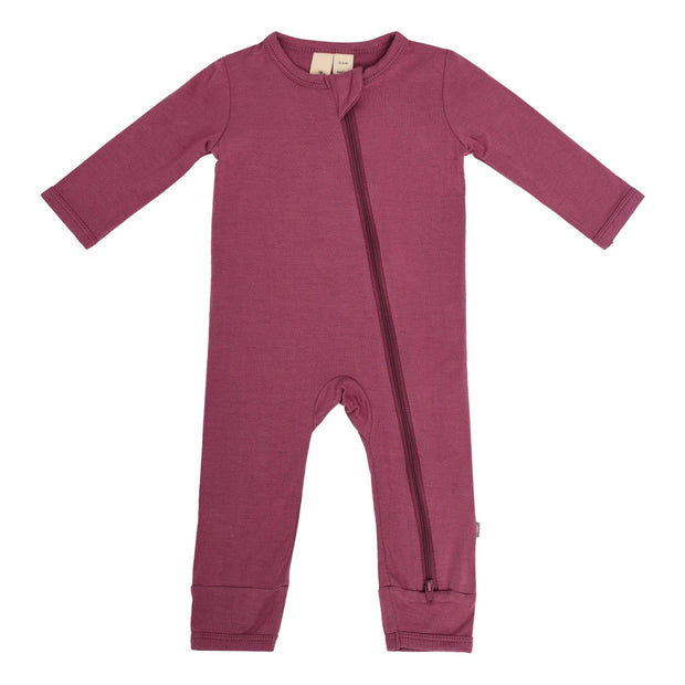 Kyte BABY Layette Zippered Romper in Plum