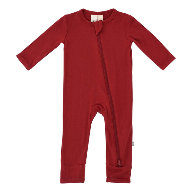 Zippered Romper in Scarlet - Kyte Baby