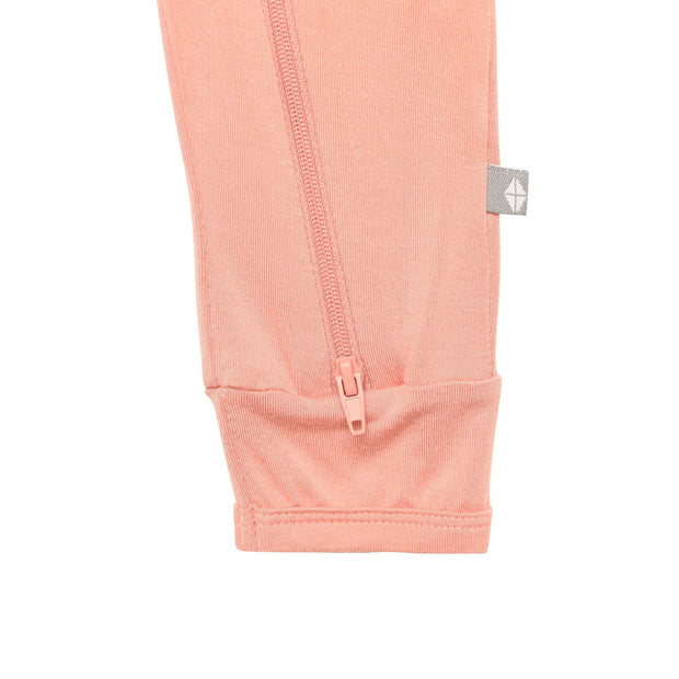 Kyte BABY Layette Zippered Romper in Terracotta