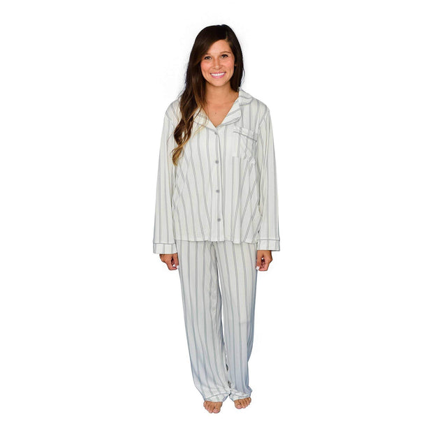 Women's Pajama Set in Storm Stripes - Kyte Baby