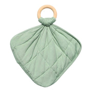 Lovey in Matcha with Removable Wooden Teething Ring - Kyte Baby