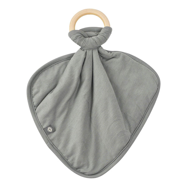 Lovey in Moss with Removable Wooden Teething Ring - Kyte Baby