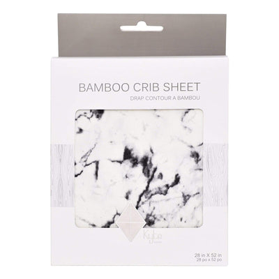 Kyte BABY One Size / Charcoal Marble Printed Crib Sheets in Charcoal Marble