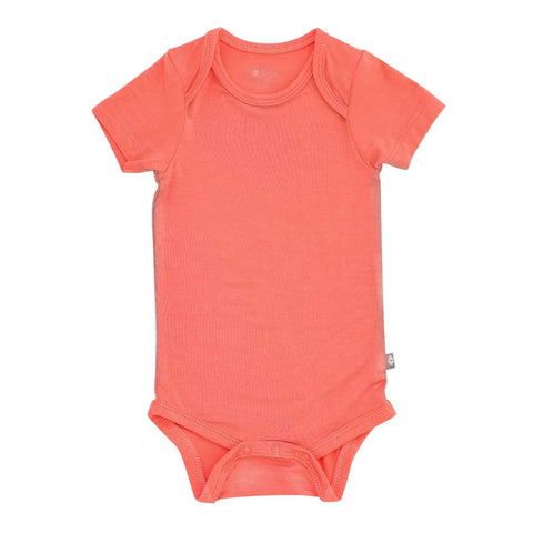 Kyte BABY Short Sleeve Bodysuits Bodysuit in Melon