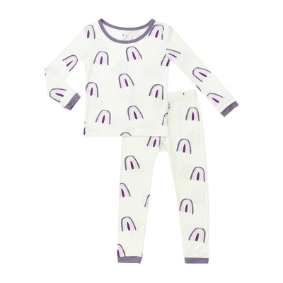 Kyte BABY Toddler Long Sleeve Pajamas Orchid Rainbow / 18-24 months Printed Toddler Pajama Set in Orchid Rainbow