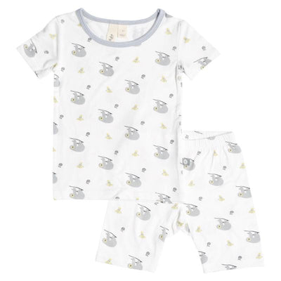Printed Short Sleeve Toddler Pajama Set in Canopy - Kyte Baby