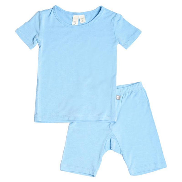 Kyte BABY Toddler Pajama Short Sleeve Toddler Pajama Set in Azure
