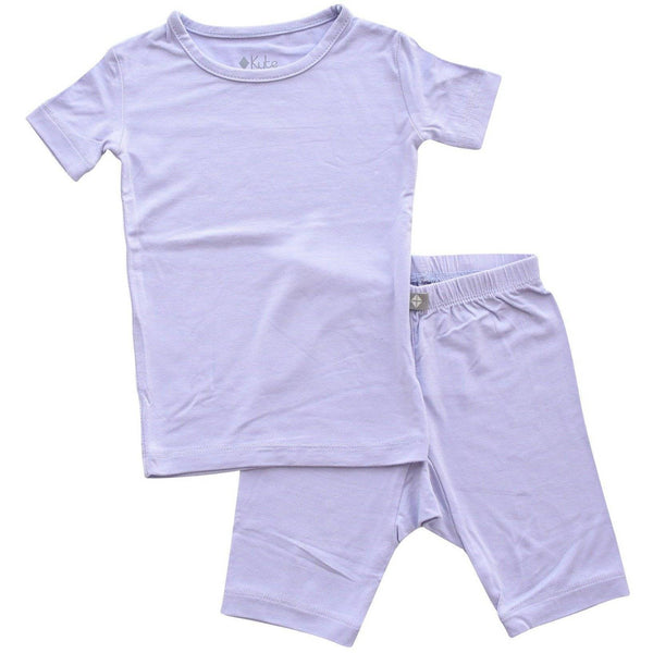 Kyte BABY Toddler Pajama Short Sleeve Toddler Pajama Set in Lilac