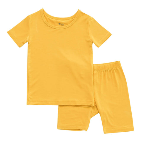 Kyte BABY Toddler Pajama Short Sleeve Toddler Pajama Set in Pineapple