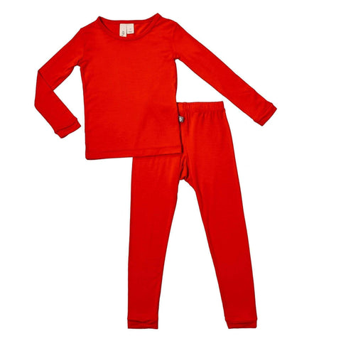 Toddler Pajama Set in Crimson - Kyte Baby