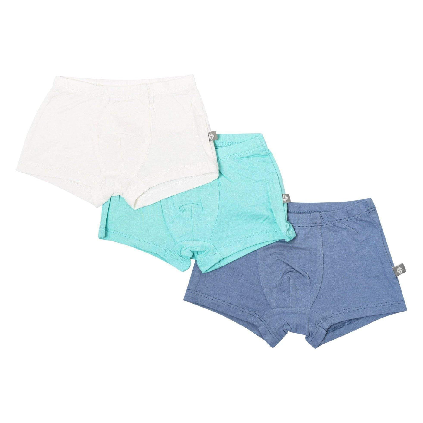 Kyte BABY Underwear 3-Pack Briefs in Cloud, Aqua, and Slate