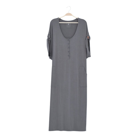 Kyte BABY Women's Lounge Dress Charcoal / XS Women's Lounge Dress Fall Collection