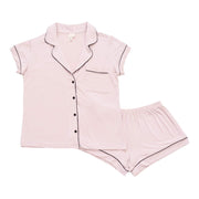 Kyte BABY Women's Pajamas Blush with Midnight Trim / XS Women's Short Sleeve Pajama Set