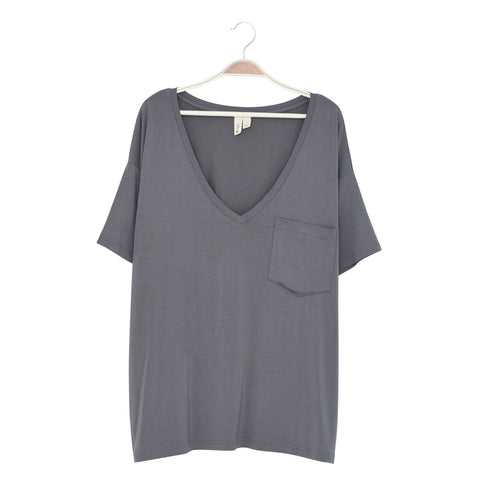 Kyte BABY Women's Tee Charcoal / XS Women's Relaxed Fit V-Neck Fall Collection