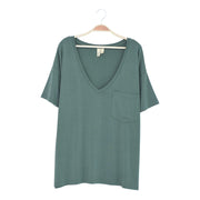 Kyte BABY Women's Tee Pine / XS Women's Relaxed Fit V-Neck Fall Collection