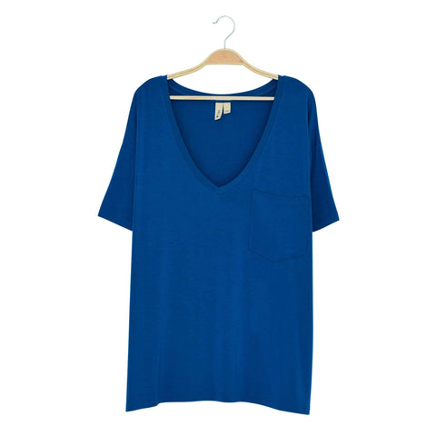 Kyte BABY Women's Tee Sapphire / XS Women's Relaxed Fit V-Neck Fall Collection