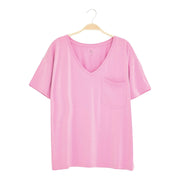 Kyte BABY Women's V-Neck Bubblegum / XS Women's Relaxed Fit V-Neck Spring Collection