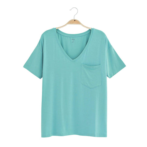 Kyte BABY Women's V-Neck Jade / XS Women's Relaxed Fit V-Neck Spring Collection