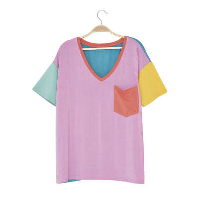 Kyte BABY Women's V-Neck Melon Color Block / XS Women's Relaxed Fit V-Neck Melon Color Block LE Collection