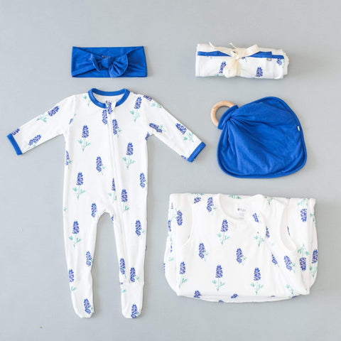 Kyte BABY Zippered Footies Printed Zippered Footie in Bluebonnet