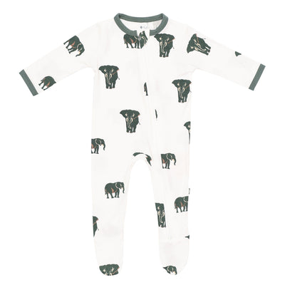 Kyte BABY Zippered Footies Printed Zippered Footie in Elephant