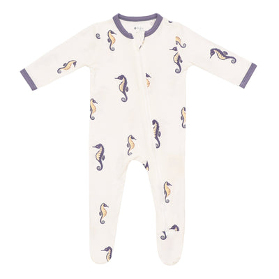 Kyte BABY Zippered Footies Printed Zippered Footie in Sea Horse