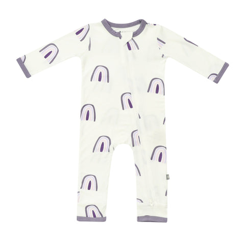 Kyte BABY Zippered Rompers Orchid Rainbow / Newborn Printed Zippered Romper in Orchid Rainbow