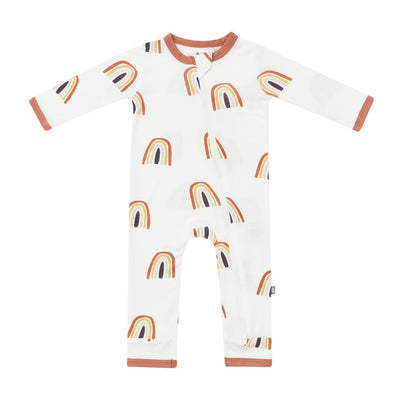 Kyte BABY Zippered Rompers Spice Rainbow / Newborn Printed Zippered Romper in Spice Rainbow