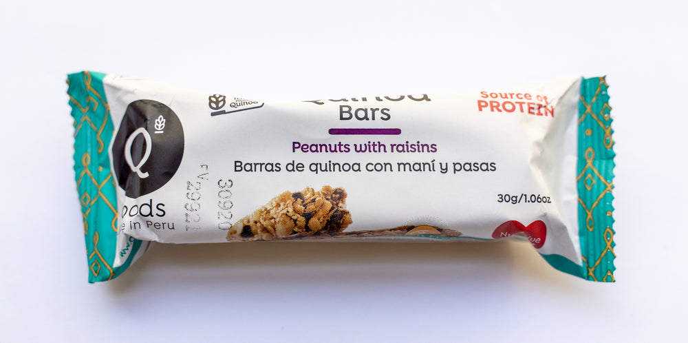 Peanuts with Raisins Quinoa Bars - 6 Pack