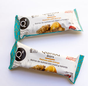 Peanuts with Orange Quinoa Bars - 6 Pack