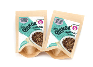 QUINOA GRANOLA MIX WITH DARK CHOCOLATE & MACA