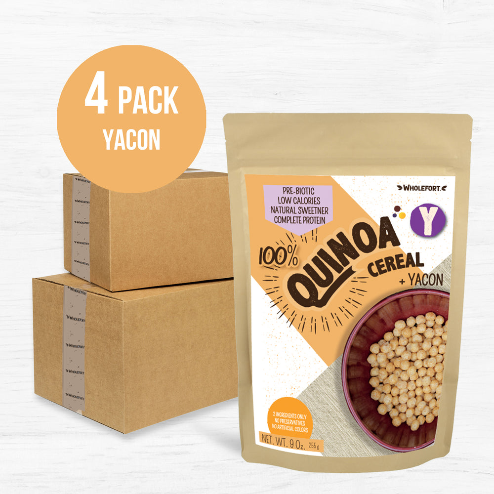Quinoa Y + Yacon Syrup 9 oz 4 Pack