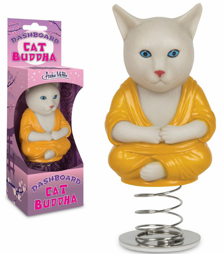 Cat Buddha Dashboard Bobble Doll