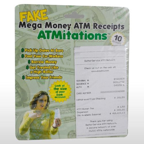 FAKE ATM RECEIPTS