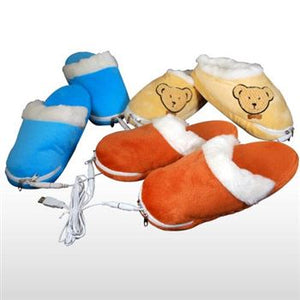 USB HEATED TEDDY BEAR SLIPPERS