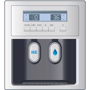 PHONY ICE & WATER DISPENSER REFRIGERATOR MAGNET