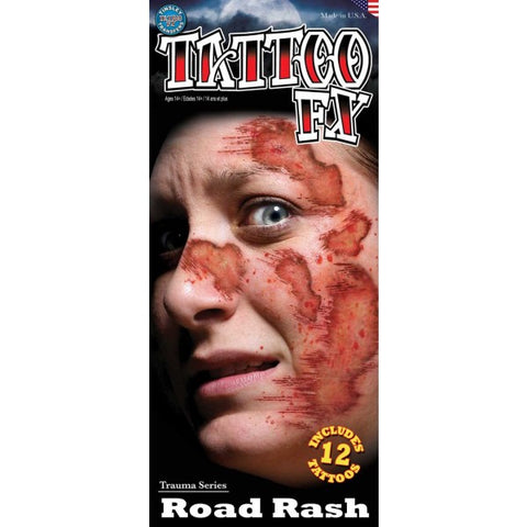 Trauma Road Rash Temporary Tattoos