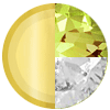 Gold|AUGUST Peridot|White Diamondettes Swatch
