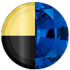 Gold|Black Metal|Blue Sapphire Diamondettes Swatch