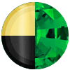 Gold|Black Metal|Emerald Diamondette Swatch