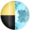 Gold|Black Metal|Light Blue Diamondettes Swatch