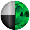 Silver|Black Metal|Emerald Swatch