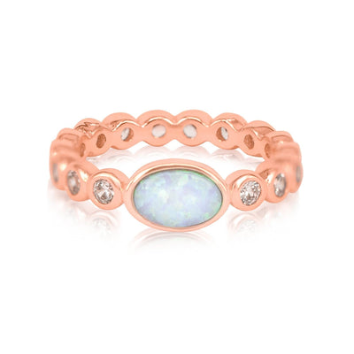 Rose Gold|White Opal|White Diamondettes
