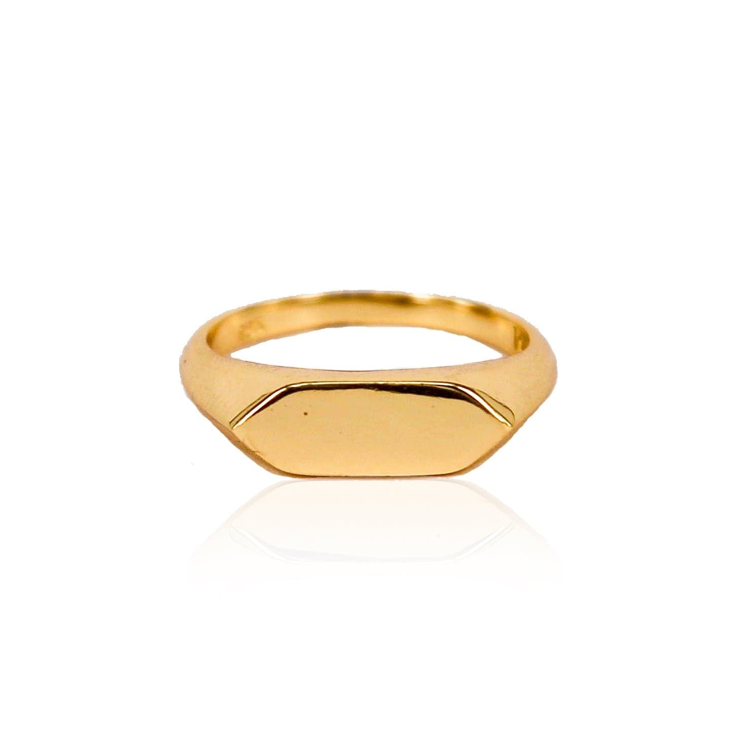 Levi Gold Vermeil Ring (Engravable)