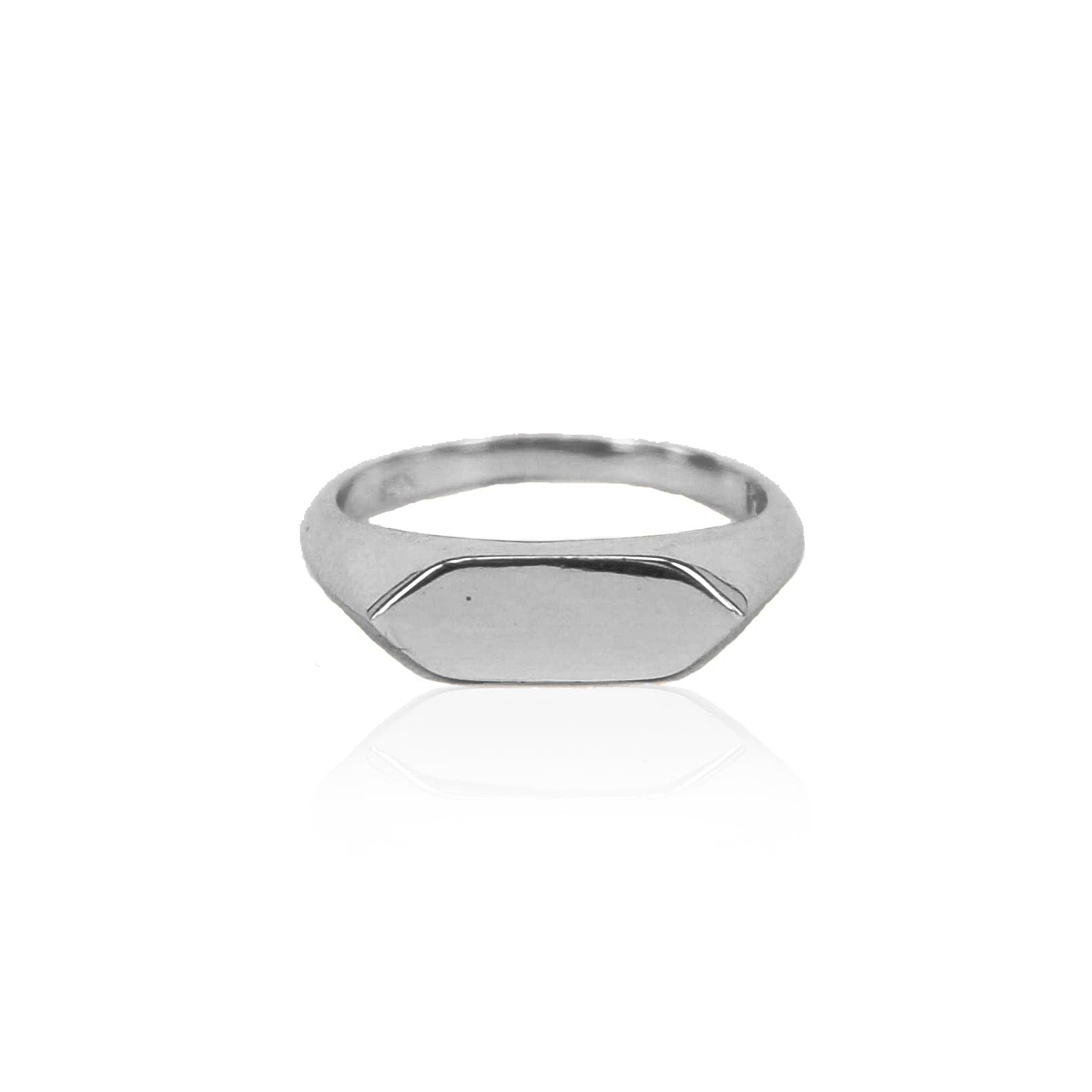 Levi Solid Sterling Silver Ring (Engravable)