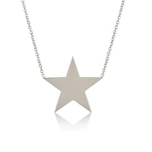 """You Are My Big Star"" Solid Sterling Silver Necklace"