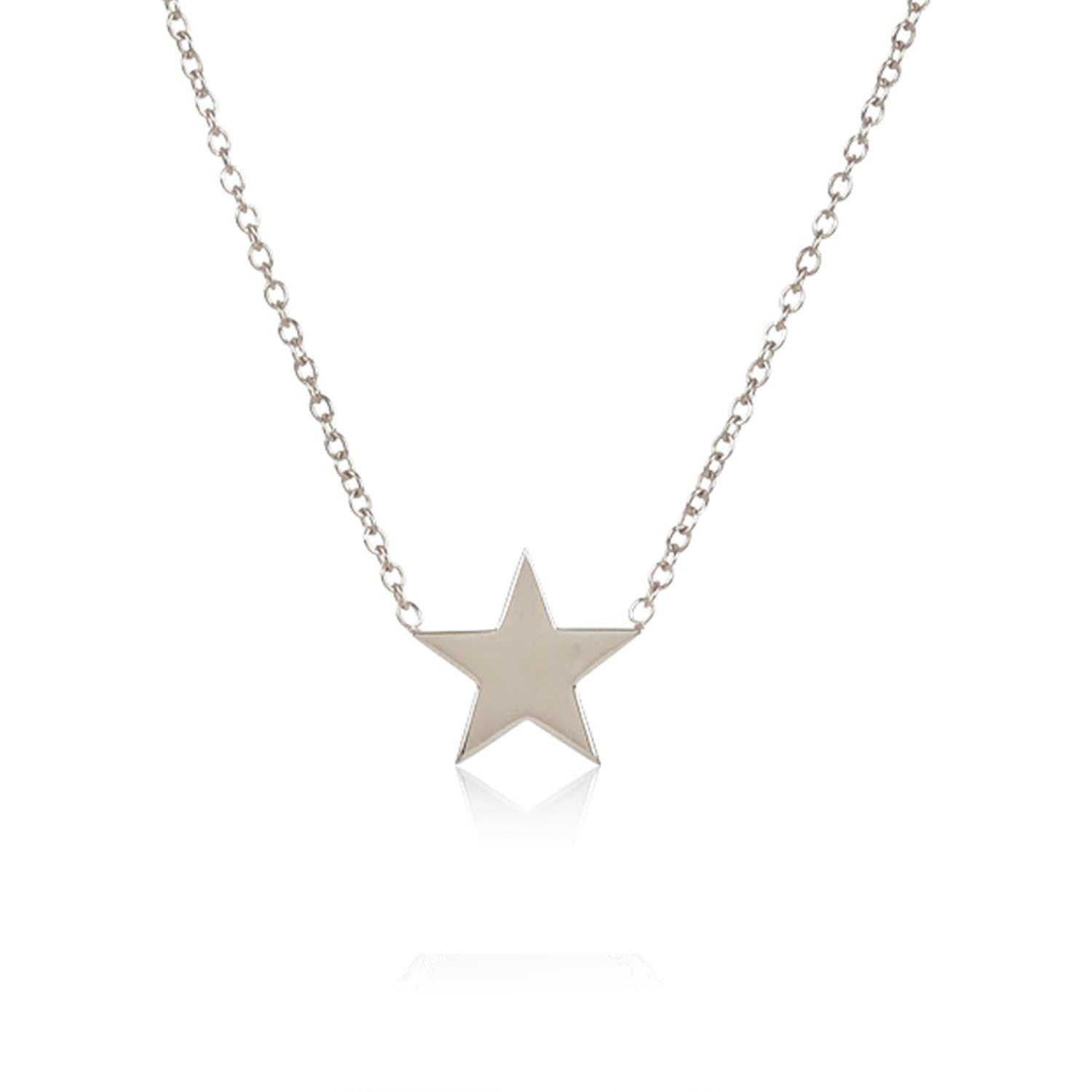 """You Are My Baby Star"" Solid Sterling Silver Necklace"