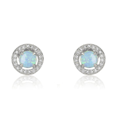 Silver|Blue Opal|White Diamondettes