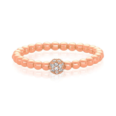 Rose Gold|White Diamondettes